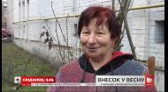 На Подоле женщина садит подснежники перед домом – интервью