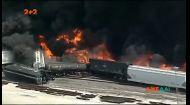 В Іллінойсі потяг злетів з рейок та загорівся