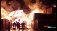 У промисловій зоні на околицях Санкт-Петербурга загорілись склади з хімічними речовинами
