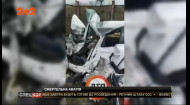 У Києві трапилася смертельна дорожньо-транспортна пригода, у якій вантажівка розтрощила автомобіль