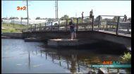 Миколаївська переправа на річці Інгул стабільно йде під воду чи ламається