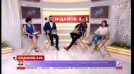 """В студии Сніданка победительница """"Голоса страны 9"""" Оксана Муха и ее тренер Дан Балан"""