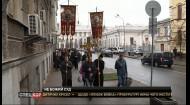 Верующие и священники Киевского патриархата ворвались в суд о ликвидации Патриархата