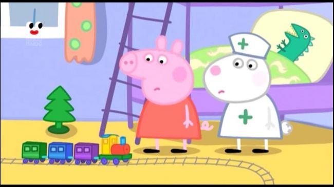 Свинка Пеппа 3 сезон 111 серія. Кролик Рідард приходить гратися