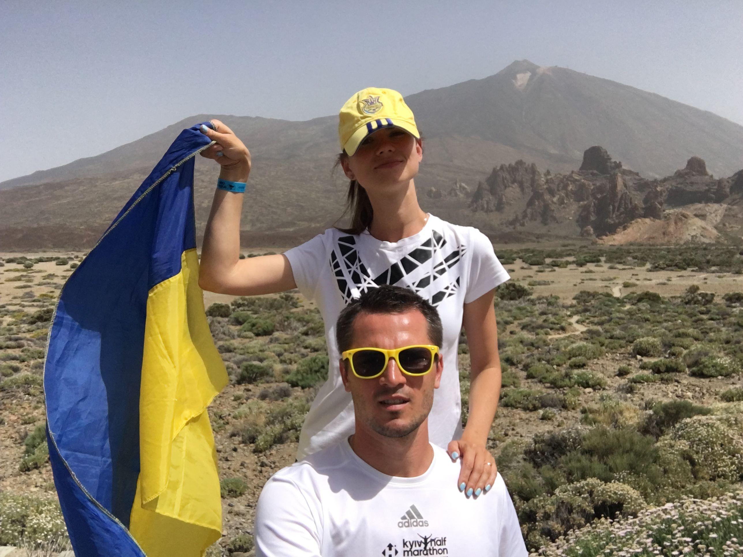 Олександра Лобода з чоловіком на острові Тенеріфе