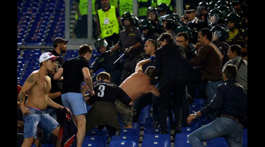ЦСКА загрожують серйозні санкції через бійку фанатів на матчі Ліги чемпіонів в Римі