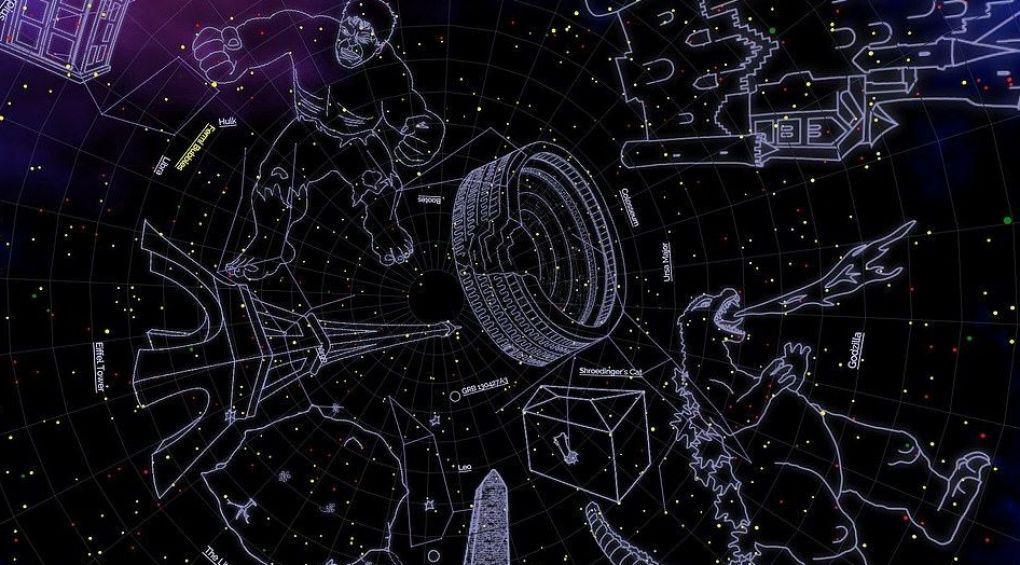 Эйнштейн, Доктор Кто и Годзилла – в NASA показали карту новых созвездий