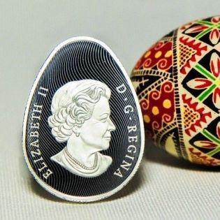 В Канаде выпустят монету в форме украинской писанки
