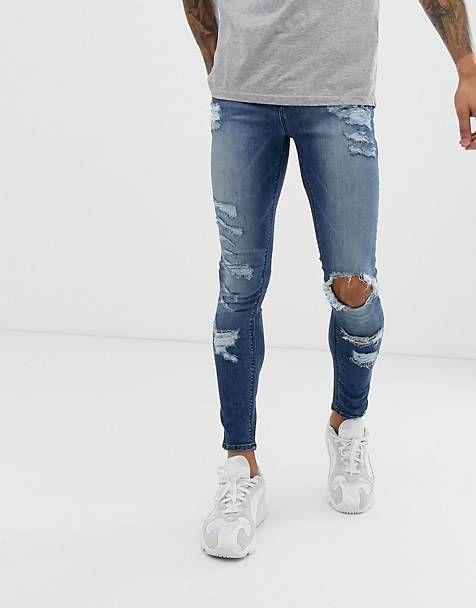 облгаючі чоловічі джинси