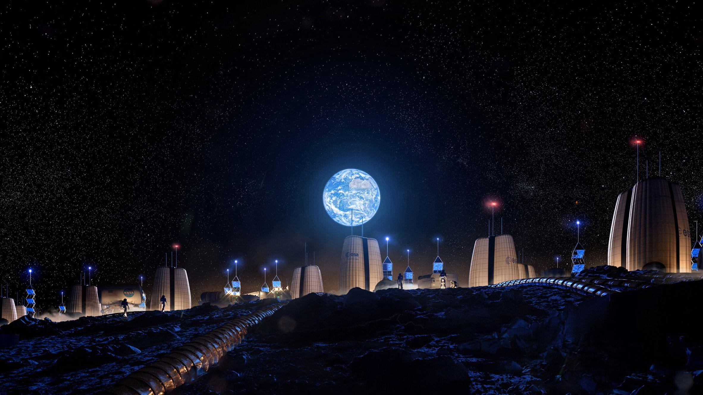 Поселення на Місяці
