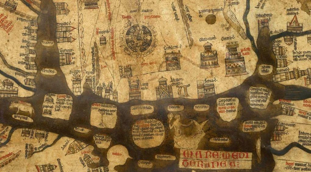 Мапа загробних світів, що зберігається у соборі 700 років