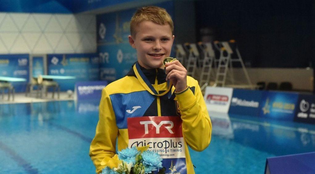 Гордість переповнює: 13-річний українець став наймолодшим чемпіоном Європи зі стрибків у воду