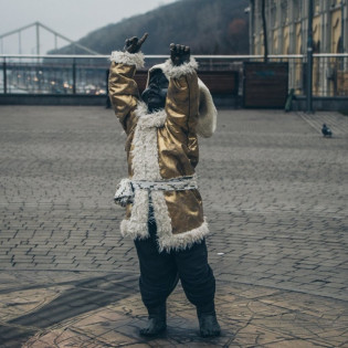 У Києві маленьких Кия, Щека, Хорива та Либідь одягнули у новорічні вбрання