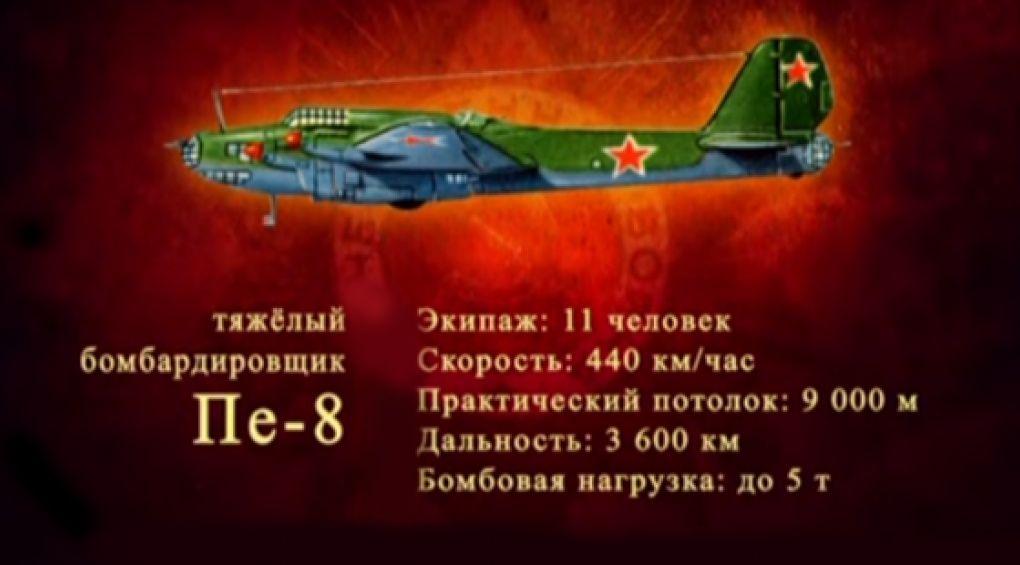 """Важкий бомбардувальник Пе-8"""