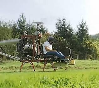 Посадовець-винахідник: чоловік із Закарпаття власноруч побудував гелікоптер