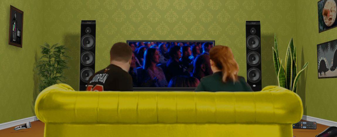 Він, вона і телевізор